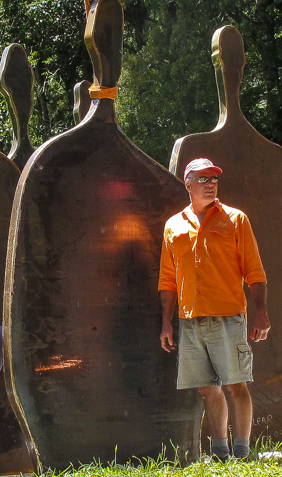 Richard at the installation of 'Gutterball' at Brick Bay Sculpture Trail near Auckland, New Zealand.